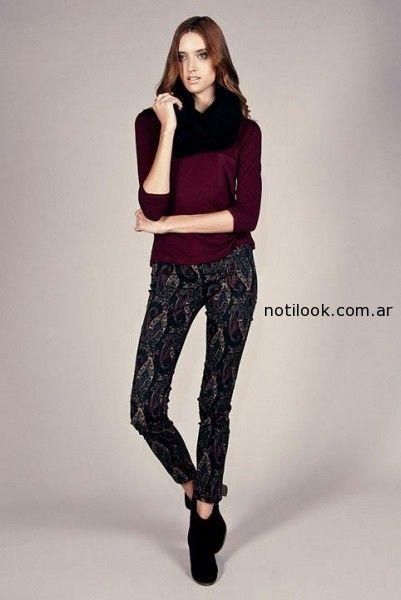 pantalones estampados invierno 2014 Sarawak