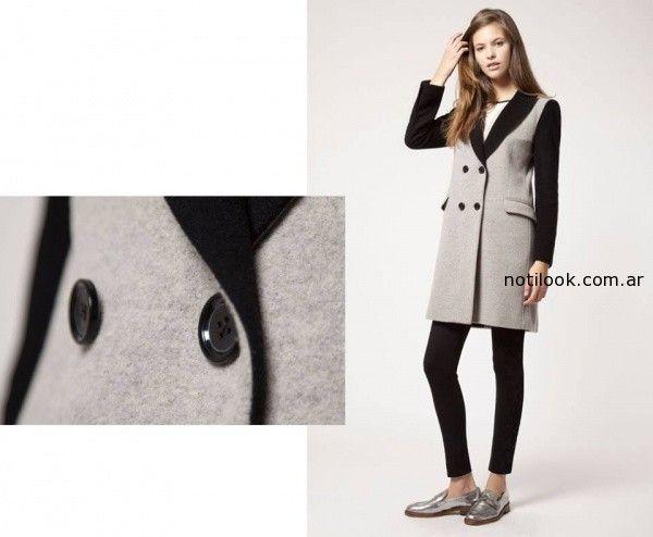 saco negro y gris invierno 2014 Giesso