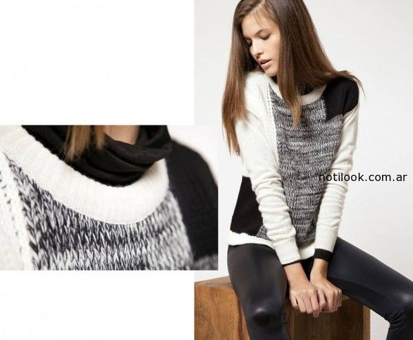 sweater negro y blanco invierno 2014 Giesso