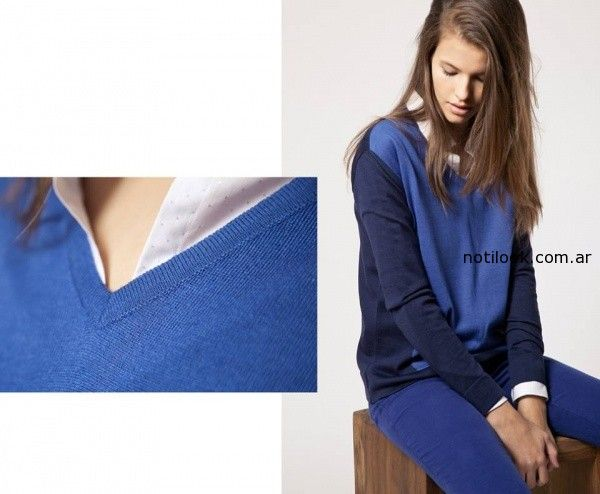 sweater tonos azules invierno 2014 Giesso