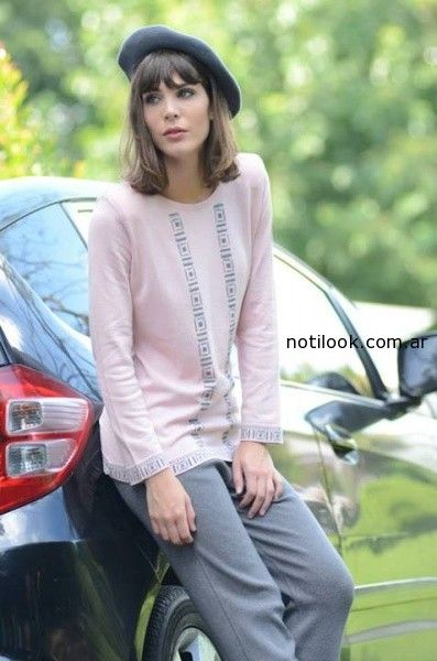 Di Madani sweater rosa invierno 2014