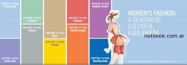 Pantone Paletas de colores primavera verano 2015