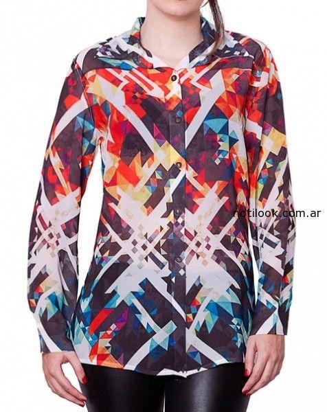camisas estampas geometricas monica acher invieno 2014