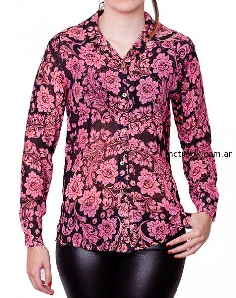 camisas floreada invierno 2014 monica acher