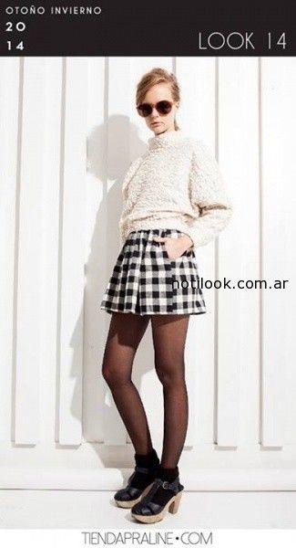 falda con tablas escocesa invierno 2014 praline