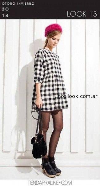 vestido cuadrille invierno 2014 praline