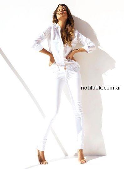 Luli fernandez - Utizzia look total white verano 2015