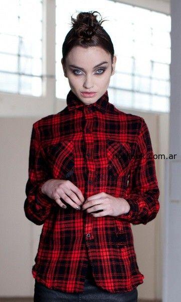 camisa escocesa ona saez invierno 2014