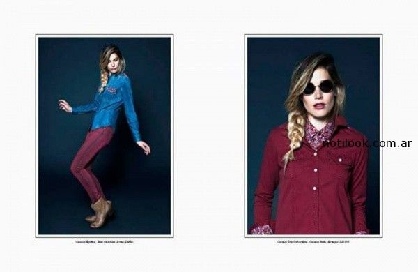 camisas jeans kevingston mujer invierno 2014