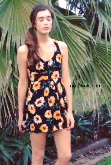 vestido con estampado floral verano 2015 - Nare