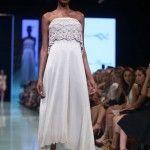 vestido largo gris Agostina Bianchi verano 2015