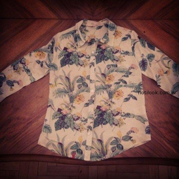 camisas estampa floral desvio jeans verano 2015