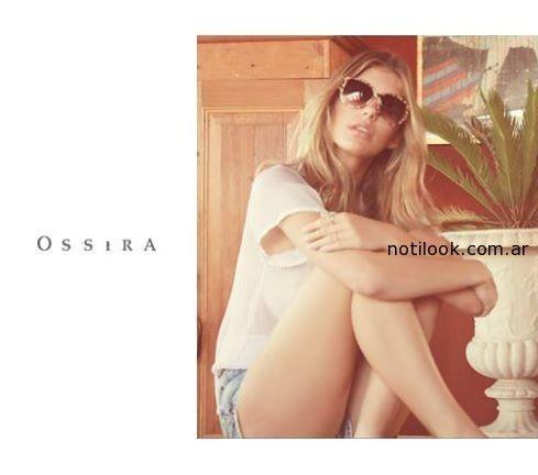 ossira primavera verano 2015 - short jeans y remera
