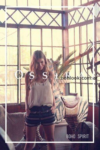 short y blusa - ossira primavera verano 2015