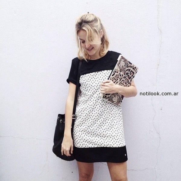 vestido blanco y negro juvenil by Kosiuko primavera verano 2015