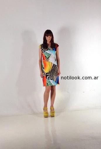 vestido recto corto Rafael Garófalo primavera verano 2015