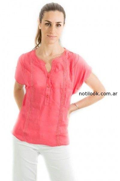 blusa con botones verano 2015 Tibetanostore