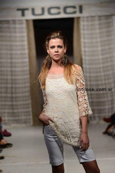 blusa de guipur Tucci verano 2015