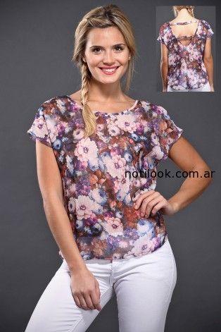 blusa floreada verano 2015 brandel