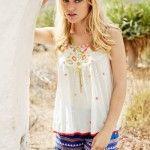 blusa y short  India Style primavera verano 2015