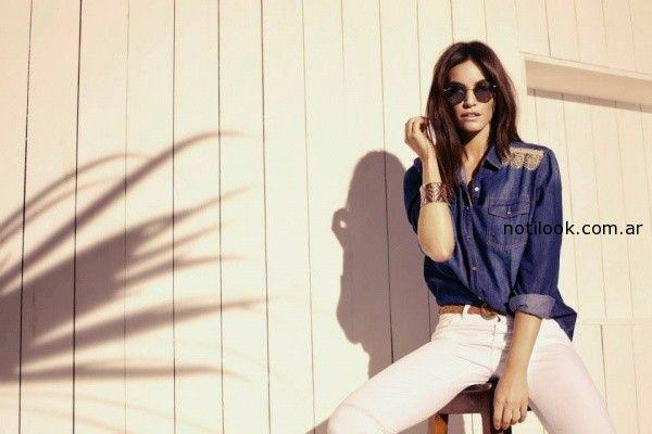 camisa de jeans  Kevingston Mujer primavera verano 2015
