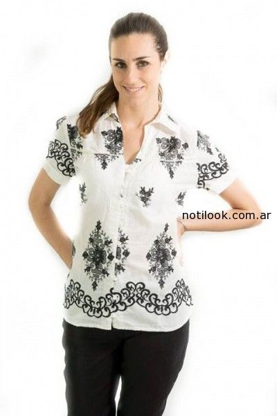 camisa estampada verano 2015 Tibetanostore