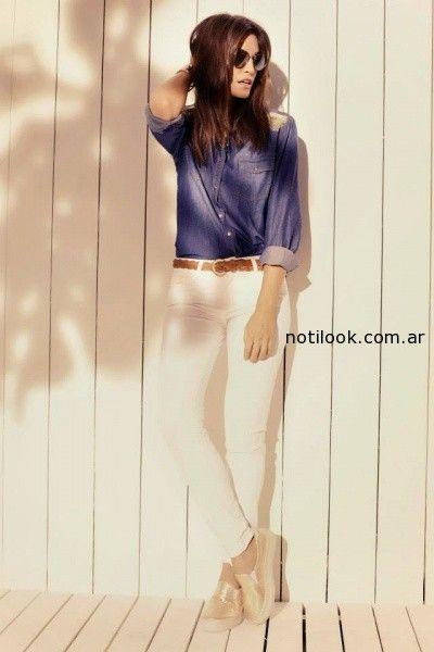 camisa jeans Kevingston mujer verano 2015