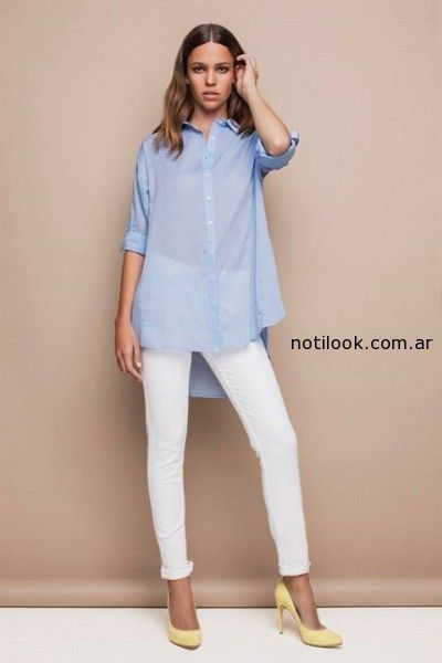 b820be305a camisas largas femeninas verano 2015 awada – Moda Mujer Argentina