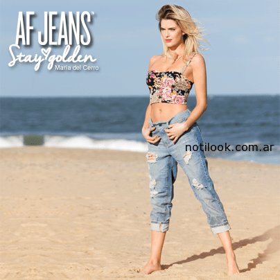 jean boyfriend y crop top verano 2015 af jeans