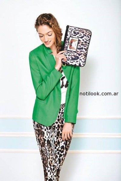 pantalon animal print primavera verano 2015