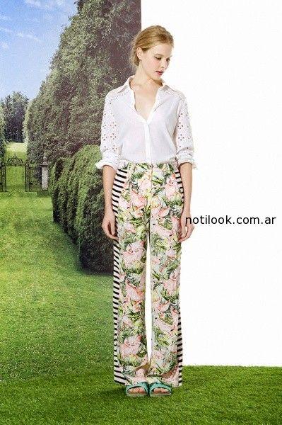 pantalon palazzo con estampas combinadas Jazmín Chebar · pantalon amplio verano  2015 ... 586d0ea59e67