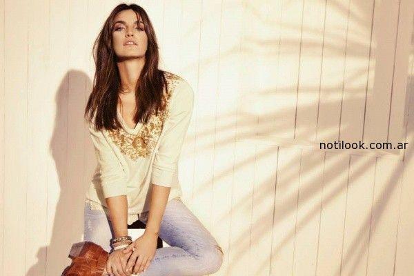 remera y jeans gastado Kevingston Mujer primavera verano 2015