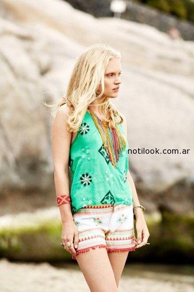 short y remera  India Style primavera verano 2015