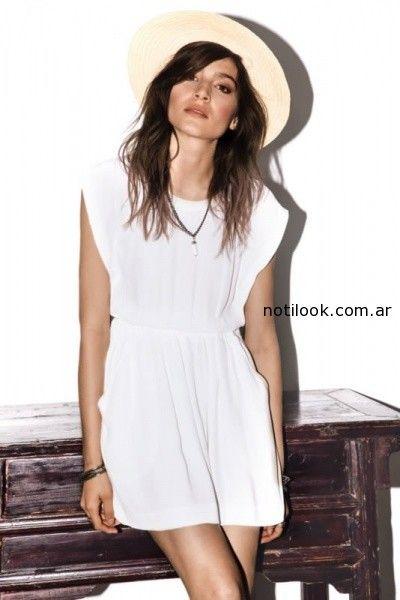 vestido blanco casual koxis verano 2015