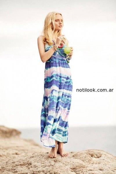 vestido estilo batik  India Style primavera verano 2015