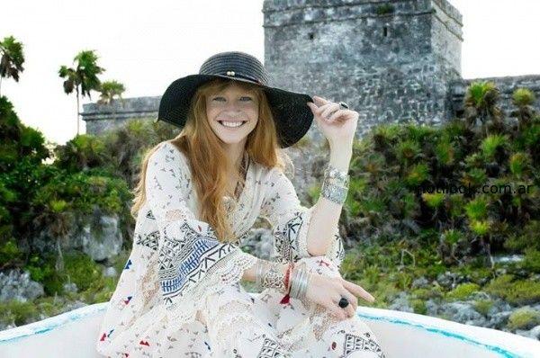 vestido lardo estilo bohemio bendito pie verano 2015