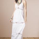vestido largo blanco informal nucleo verano 2015