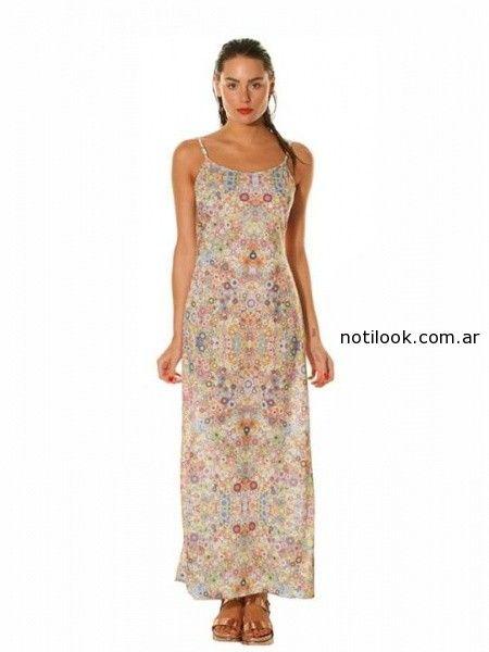 vestido largo de dia mada verano 2015