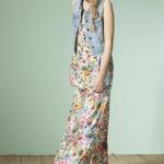 vestido largo estampado informal nucleo