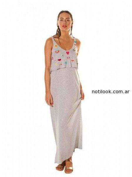 vestido largo informal mada verano 2015