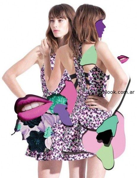 vestidos cortos de dia rie verano 2015