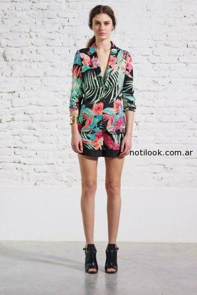 blazer de seda melocoton verano 2015