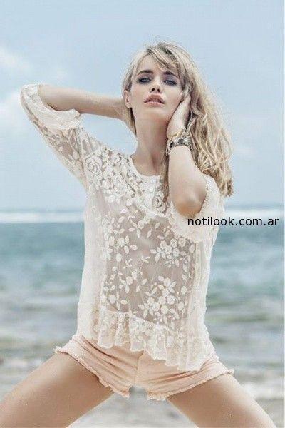 blusa de microtul bordado sweet verano 2015