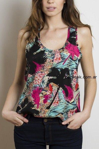 blusa estampa tropical yagmour verano 215