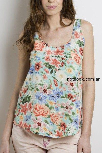 blusa floreada yagmour verano 2015