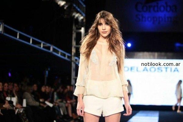 blusa mangas largas con tranparencias delaostia verano 2015