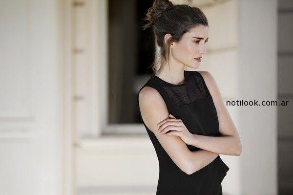 blusa negra cacharel verano 2015