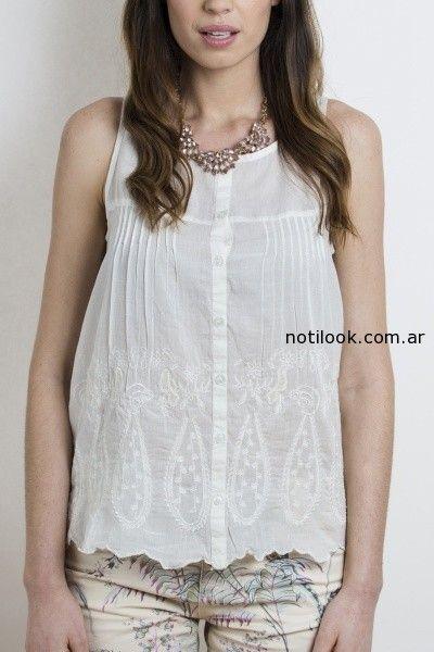 camisa bordada yagmour verano 2015