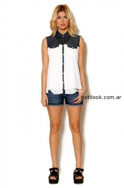 camisa en blanco y negro viga verano 2015