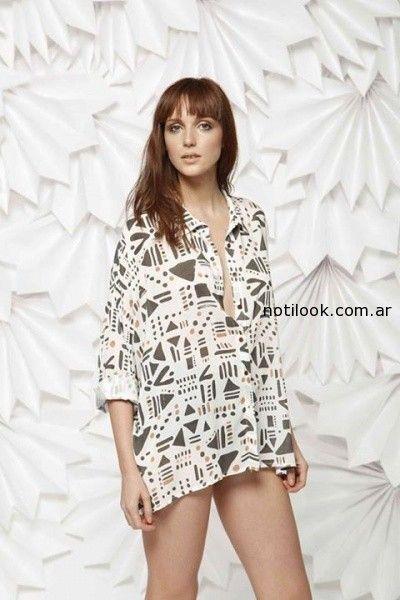 camisa estampada leandro dominguez primavera verano 2015